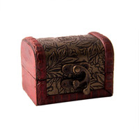 ingrosso mini contenitori per custodia-Nuovo contenitore di monili dell'annata Contenitore di immagazzinaggio dell'organizzatore dei monili Contenitore di bellezza decorativo di legno del contenitore mini
