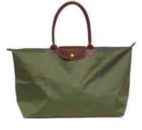 armee heiße mädchen großhandel-Heiße Verkauf Art und Weise Frauen Paris Reisetasche Armee-Grün berühmte Marke Nylon Femme Handtaschen einzigen Reißverschluss Quermusterkupplungs Mädchen Duffel Taschen