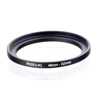 adaptador negro uk al por mayor-Original RISE (UK) 46mm-52mm 46-52mm 46 a 52 Step Up Ring Filter Adapter negro envío gratis