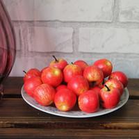 пена красное яблоко оптовых-Маленькие искусственные фрукты красный зеленый цвет поддельные яблочная пена поддельные фрукты ouse украшения дома