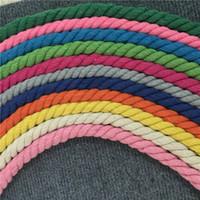 cinto de torção venda por atacado-10 cores mistas 10 m 3 ações de algodão trançado cordas 8mm 10mm diy artesanato decoração cabo corda de algodão para o saco de cordão cinto chapéu cd27