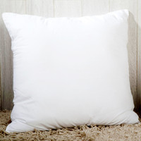 cojines de almohada personalizados al por mayor-Personalizada transferencia térmica sublimación funda de almohada blanca en blanco Throw Pillow Cover 40 * 40cm almohada poliéster almohada cubierta forma cuadrada del corazón