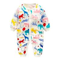 ingrosso caldo bodysuit-SummerFashion Newborn Toddler Baby Jumpsuit Ragazzi ragazze cotone caldo pagliaccetto neonato pagliaccetto bambini vestiti vestito