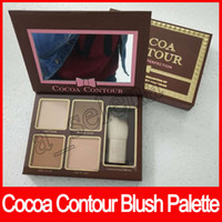 Wholesale concealer perfection - 2017 New Makeup COCOA Contour Chiseled To Perfection Highlighters Palette 4 Color Face Concealer with Contour buki Brush Free Shipping