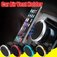 Wholesale car phone holder mp3 for sale - Group buy Strong Magnetic Phone Mount Holder Degree Rotation Stand Car Air Vent Holder For iphone x samsung android phone gps mp3
