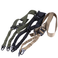 Wholesale nylon gun sling for sale - Tactical Hunting Gun Sling Multi function Nylon Single Point Sling Bungee Strap Safe Rope CS Game Belt for Airsoft Hunting