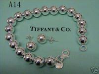 conjuntos de colares para mulheres venda por atacado-Tiffany925 sterling  silver oco bola colar pulseira b263946e74