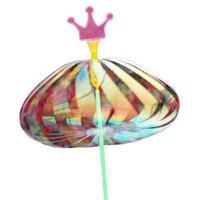 führte regenbogenstock großhandel-Regenbogen Magic Stick Zauberstab LED Bubble Star Bunt leuchtendes Licht Zauberstab Stick Magic Toy Spezielle Tricks Spinning Hochzeitsfeier