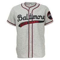 camisola de elite masculina venda por atacado-Baltimore elite gigantes 1949 estrada jersey doulble stiched logotipos nome número personalizável para homens mulheres juventude