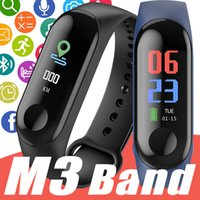 Wholesale heart rate blood pressure resale online - OEM quality M3 Waterproof Health Activity Fitness Tracker Color Screen Sport Smart Watch with Heart Rate Blood Pressure PK Xiaomi