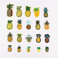applikation hut großhandel-DIY Multicolor Food Bird Ananas Augen Set Patch Pattern bestickt Nähen Eisen auf Patch Badge Taschen Hut Cap Jeans Applique Stoff Transfer