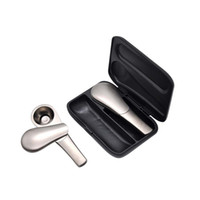Wholesale magnets smoking pipe for sale - Group buy Cheap Spoon laddle Herb Cigar Metal Smoking Pipe Detachable Magnet Zinc Alloy Bubblers Pipes Accessories gift set