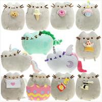 Wholesale moon cat toys for sale - Group buy EMS The Cat Angel Cake Cookie Icecream Egg Pizza Doughnut Rainbow Sushi Dinosaur Dino Moon Cat CM Plush Doll Stuffed Best Gift Soft Toy