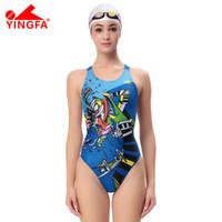Wholesale Woman Swimwear Competition - YingfaOne Piece Women Swimsuit Professional Swimwear Lady Bathing Suit Sport Racing Competition Tight Bodybuilding Swimming Wear