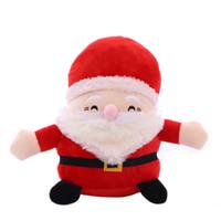 dolmalık peluş santa toptan satış-Noel Baba Peluş oyuncaklar karikatür Noel Doldurulmuş Hayvanlar Çocuk Noel hediyesi C5349 için 20cm / 8 inç