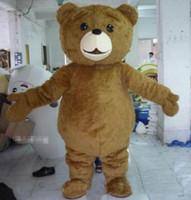 mascotes de urso adulto venda por atacado-2018 de alta qualidade hot teddy bear traje da mascote dos desenhos animados fancy dress transporte rápido tamanho adulto