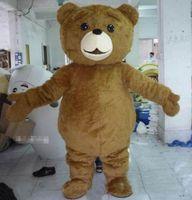 Wholesale teddy bear mascots - 2018 High quality hot Teddy Bear Mascot Costume Cartoon Fancy Dress fast shipping Adult Size
