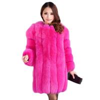 Wholesale womens white faux fur coat - High womens faux fur coat 2017 fashion new long section of white fur coat female splicing high quality faux coats