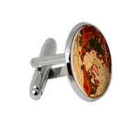 Wholesale FT CK Men Cufflinks Bronze Compass Design Cuff link Accessories Men High Quality Photo Cufflinks Jewelry Glass Cuff