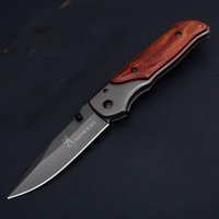 Wholesale pocket wood resale online - Folding knife Browning Inch Folding EDC Pocket Knife Wood Handle With Retail Package Box Inch Closed Christmas Gift Knives B479Q