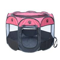 ingrosso giocattoli per animali da compagnia-CALDO Portatile Pieghevole Tenda Pet Dog Dog Cage Dog Cat Tenda Box Cucciolo Kennel Easy Operation Recinzione Ottagonale Forniture da esterno