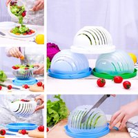 Wholesale wholesale salad bowls - Salad Bowl Vegetable Fruits Cutter Slicer Easy to Make Healthy Fresh Salad Kitchen Tools Salad Tools T2I205