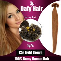 Wholesale under nails for sale - 100G Straight Nail Tip Hair quot quot strands g strand Keratin U Tip Hair Remy Human Hair extension
