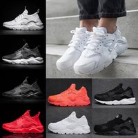 Wholesale Womens Skis Boots - Classical Air Huarache 4 Running Shoes For Mens Womens Triple black white Red Mesh Breathable Huaraches Sports Sneakers casual eur 36-45