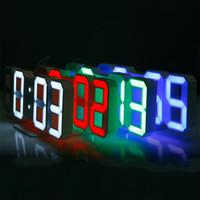 ingrosso il display principale 24-Orologi da parete digitali a LED 3D 24 ore su 24 Display 3 Livelli di luminosità Funzione di snooze notturna a luce variabile per l'ufficio di cucina domestica