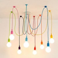 white 12 light chandelier 2018 - Modern chandelier Colorful Pendant Lights Dining Room Living Room Pendant Lamp Indoor Decoration Lamp silica gel 4 6 8 10 12 Heads