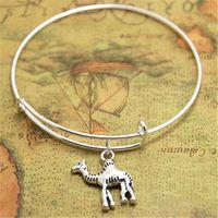 Wholesale plated deserts - 12pcs lot Camel bracelets Jewelry Desert Animal Charms Desert bangles adjustable