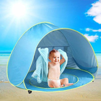 foldable baby mosquito nets NZ - Portable Foldable Baby Beach Tent Waterproof Pop Up Awning Tent UV-protecting Sunshelter Summer Baby Pool Mosquito Net