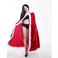 kış için gelin sargılar toptan satış-Kırmızı Başlıklı kız Cosplay Faux Kürk Pelerin Uzun Gelin Sarar Ceket Kış Sıcak Palto Burunları Noel Sarar Pelerinler Parti Ceket SD150