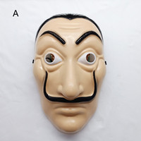 brinquedos de plástico venda por atacado-2 Estilo La Casa De Papel máscara 2018 Novo adulto das Crianças Horror Rosto de Halloween festa Cosplay Chapelaria de Plástico Máscaras Brinquedos B