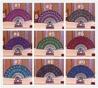 düğün için dantel el fanlar toptan satış-DHL Parti Dans Katlanır El Fan