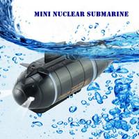 mini submarinos de control remoto al por mayor-777-216 Mini submarino nuclear RC de alta velocidad de carreras de bote para juguetes de control remoto de aventura con 40MHz transmisor ~