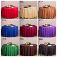 Wholesale tablecloth wholesale - Round Table Cloths Wedding Party Decorations Tables Banquet Nappe Runner Colorful Tablecloth Home Antependium Factory Direct DDA23