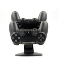 xbox one recargable al por mayor-Cargador de controlador PS4 Soporte Joystick PS4 Estación de carga dual para PlayStation 4 Accesorios Slim Pro Dualshock4