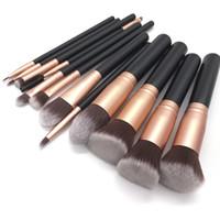 Wholesale eyeliner set resale online - High Quality Wooden Makeup brush set Foundation Powder Eyeshadow Eyeliner Blending Mascara Brush Cosmetic Make up Brushes Beauty Tools