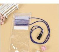 teléfonos celulares transparentes al por mayor-PVC transparente teléfono a prueba de agua teléfono celular con pantalla de casetouch bolsa impermeable que se desliza bolsas de teléfono móvil con estilo colorido Agua móvil