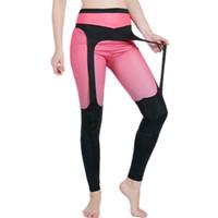 dc17eb69d Frauen Hosen Leggins Rot Schwarz Patchwork Fitness Legging Elastische  Unterteile Für Frauen Workout Gym Übung Athletische Leggings