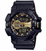 horloge numérique extérieure imperméable à l'eau achat en gros de-2018 Big Shock Watch Montre à LED Sport numérique Montre à quartz de sport en plein air Sport de plein air Horloge étanche Bracelet en caoutchouc LED Phare Multi Time Zone