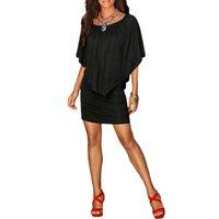 schwarze strandkleidart großhandel-Armee-Grün-Schrägstrich-Ansatz-Frauen-Minikleid-Sommer-Art schulterfreie reizvolle Kleider Vestidos Schwarz-weißer Strand-beiläufiger Kleid-Großverkauf