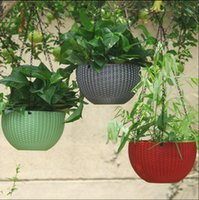 Wholesale basket chain - Hanging Flower Pot Chain Plastic Waven Planter Basket Garden Flexible Innovative Basket Flower Pot Home Decoration 72pcs OOA5086
