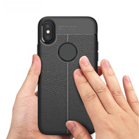Wholesale Iphone Protective Skins - Leather Slim Cellphone Case Mobile Phone Protective Cover Skin for Galaxy S9 S9Plus iPhone 8 X Plus 7 6 High Quality