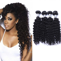 Wholesale malaysain hair weave resale online - 8A Malaysain Deep Wave Virgin Hair Weave Natural Color No Shedding Tangle Free Human Hair Extensions