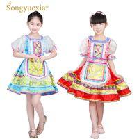 vestido de baile popular al por mayor-SONGYUEXIA trajes de ejecución nacional ruso para niños vestido de danza folclórica china para niñas vestido de princesa de baile moderno