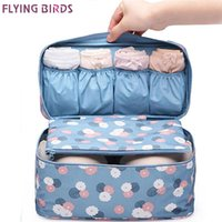 Wholesale fly box case - FLYING BIRDS! NEW Arrival Travel Storage Bag Cosmetic bag case Wash Bra Sorting Organizer Bags Waterproof makeup Bags LM3529fb