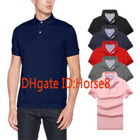 Wholesale Mens Polos - New arrival Polo Shirt Men Camisa Solid Short Sleeve Summer Casual Camisas Polos t shirt Mens Free Ship