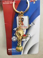 Wholesale cups photos - European Champions Cup Keychain 2018 Russia World Cup Hercules Cup Keychain Gold Trophy LOGO Fans Gift Souvenir FIFA Fans Souvenirs